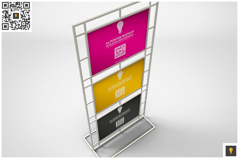 Poster Stand Display Mockup example image 7