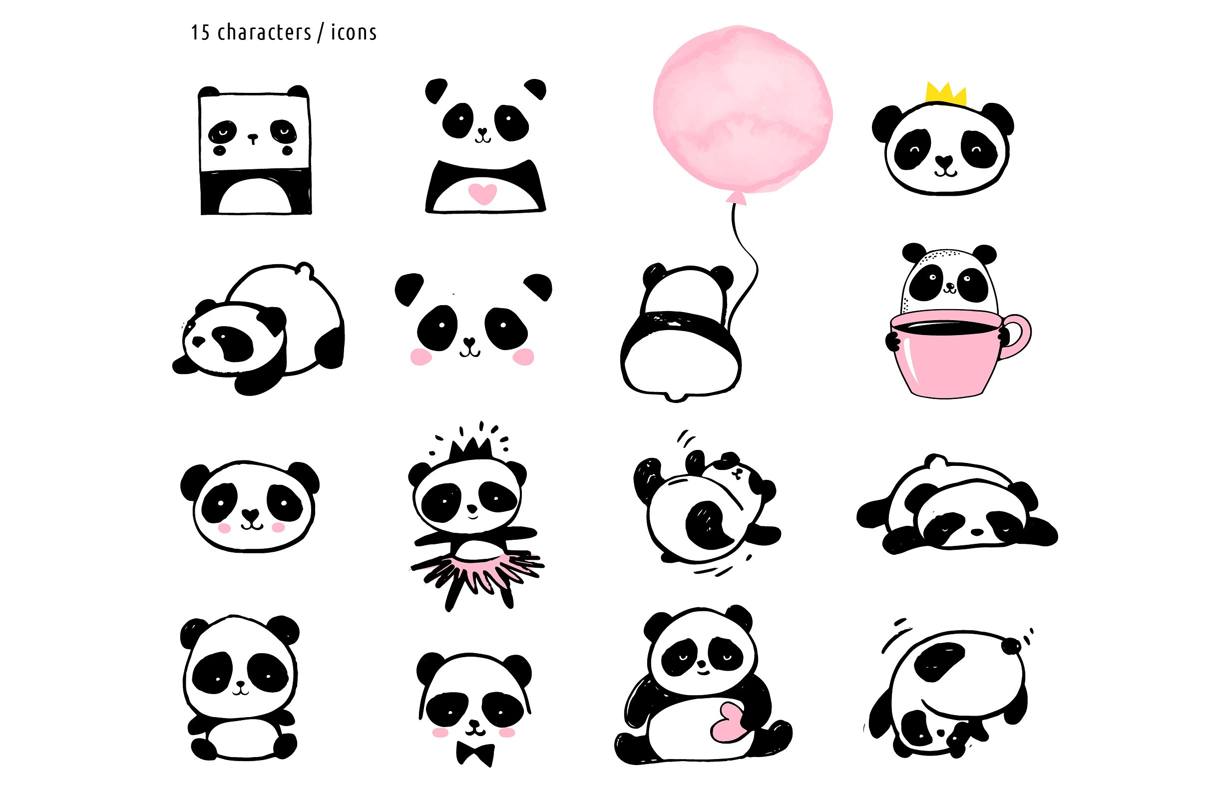 Panda bear design collection example image 2