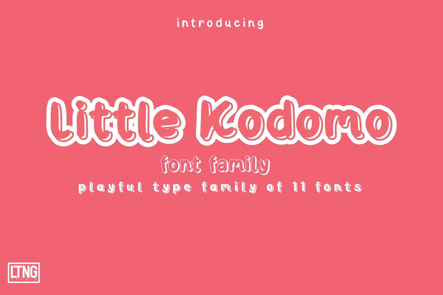Little Kodomo-playful type family- example image 1