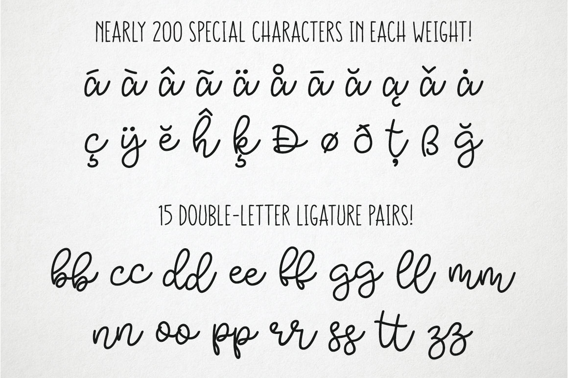Bobbles - alpha - special characters and ligatures