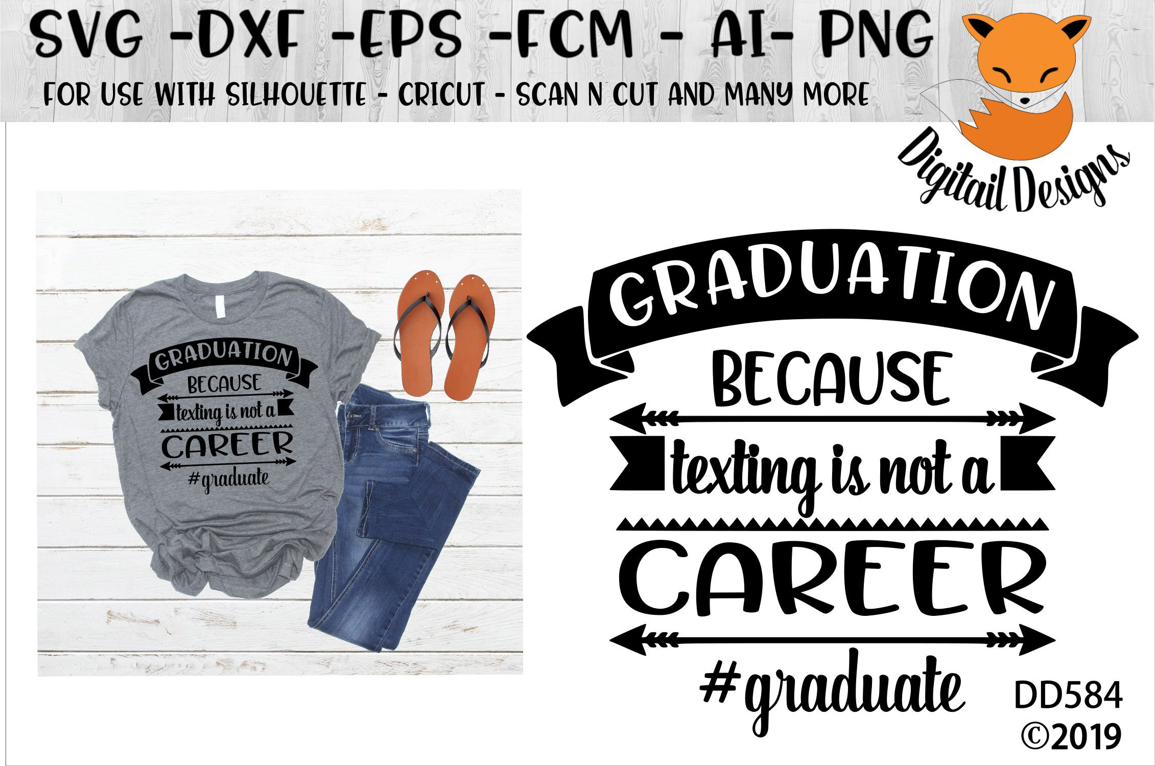 Funny Graduation Texting Is Not A Career SVG example image 1