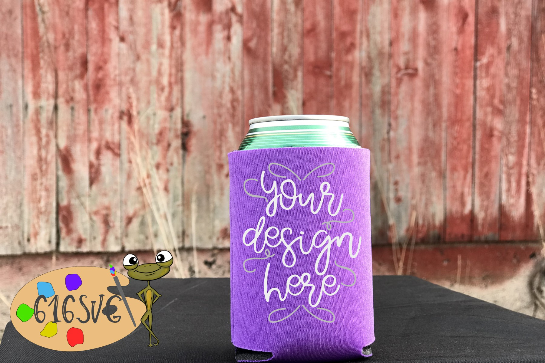 Orchid Can Cooler Mockup example image 1