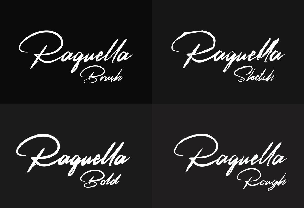 Raquella 4 Font example image 6