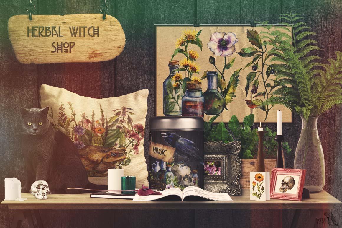 Watercolor Alchemy Medicinal Herbs example image 6