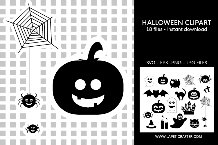 Halloween silhouette, halloween black clipart, digital stick example image 5
