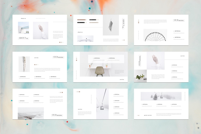 card portfolio google slides template. Black Bedroom Furniture Sets. Home Design Ideas