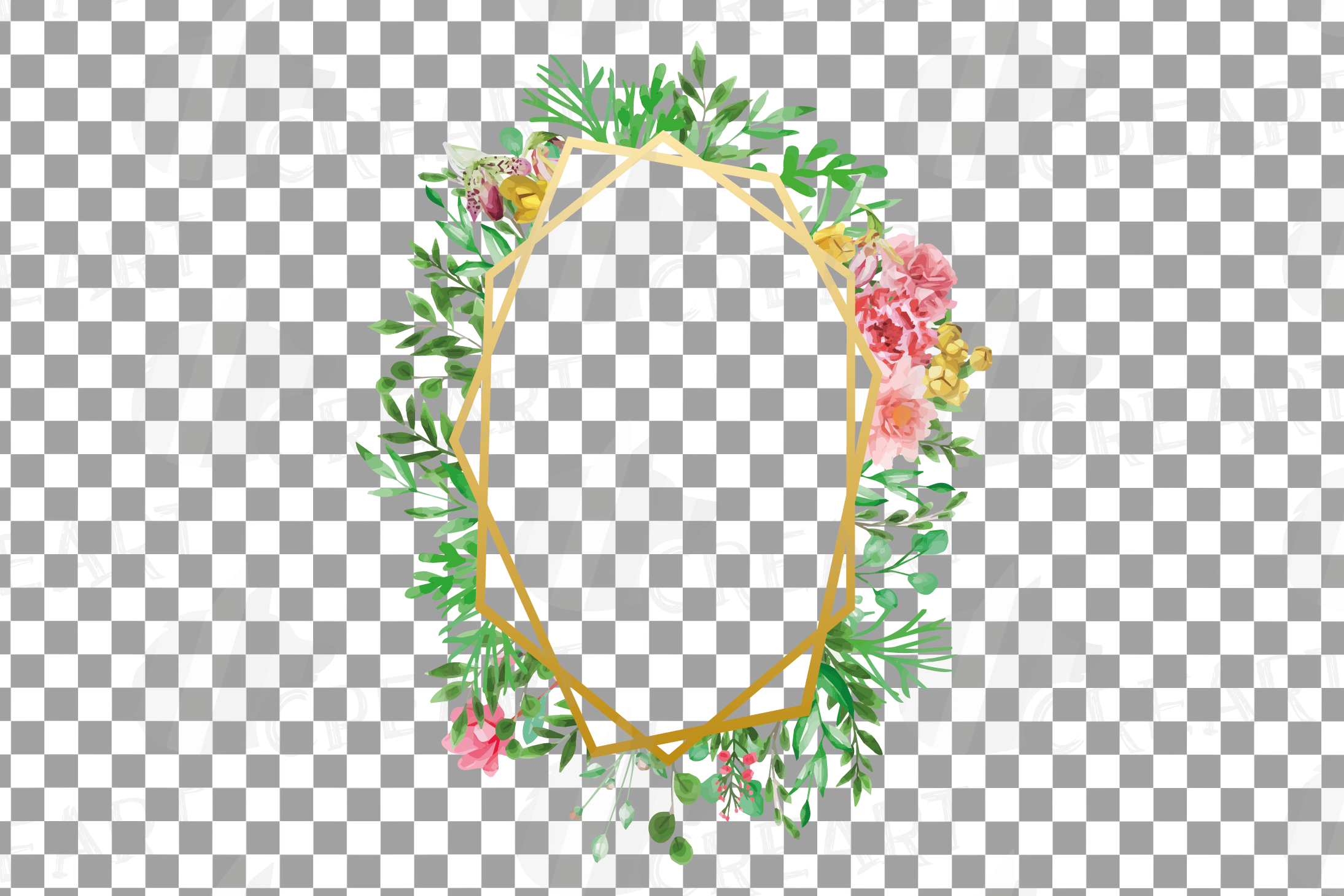Watercolor floral floral frames and borders clip art pack example image 21