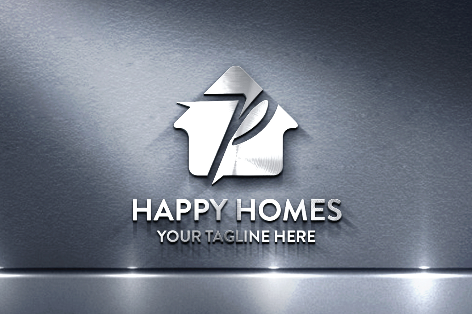 P letter house logo example image 2