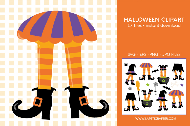 Halloween witch legs clipart, wicked witch party decorations example image 4