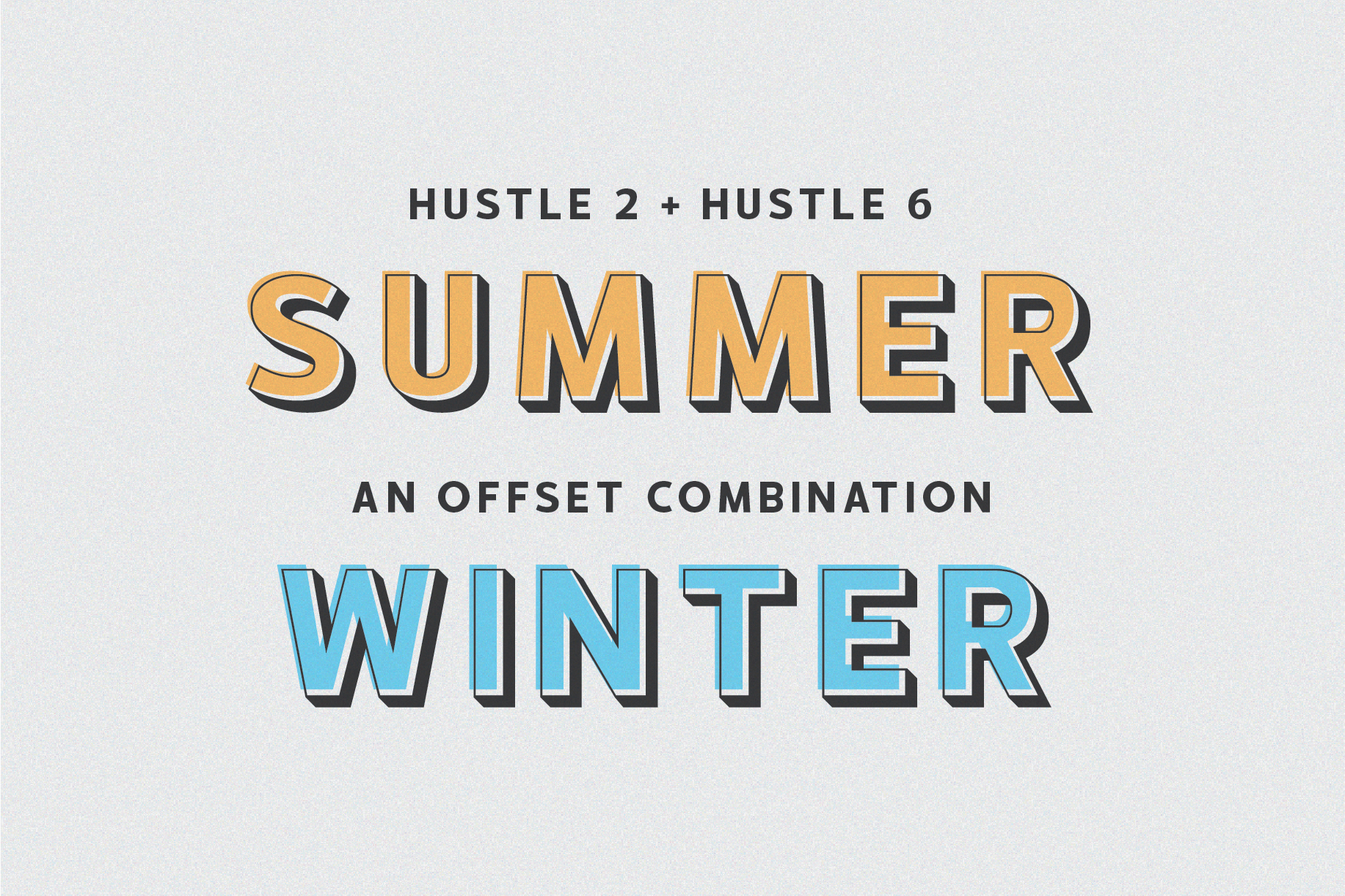 HUSTLE | 5 layers display font example image 3