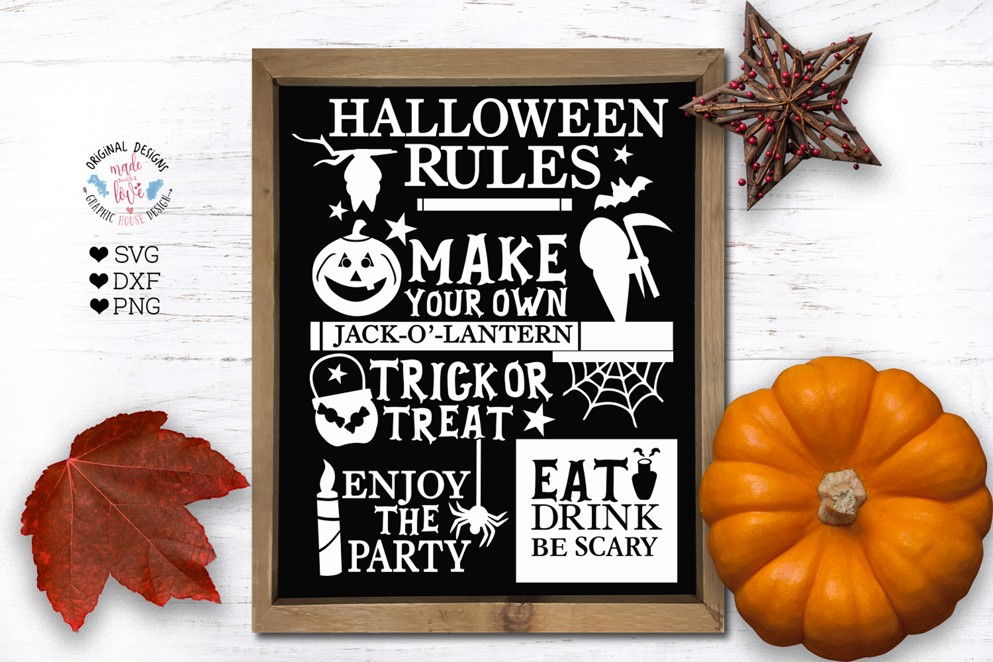 Halloween Rules Cut File example image 1