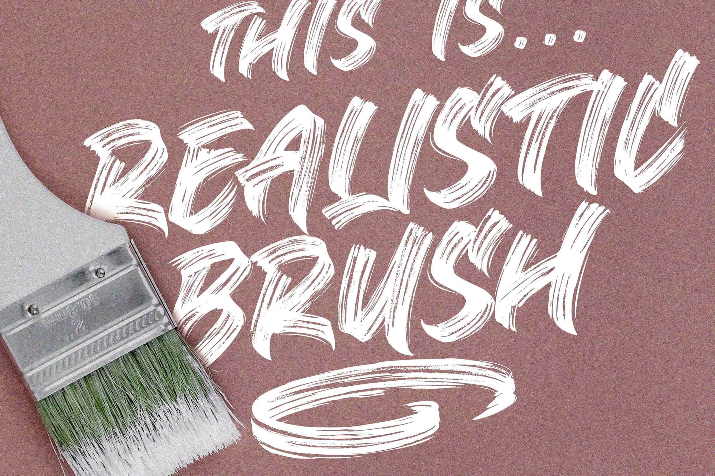 BLACK BRUNO // Brush Font example image 7