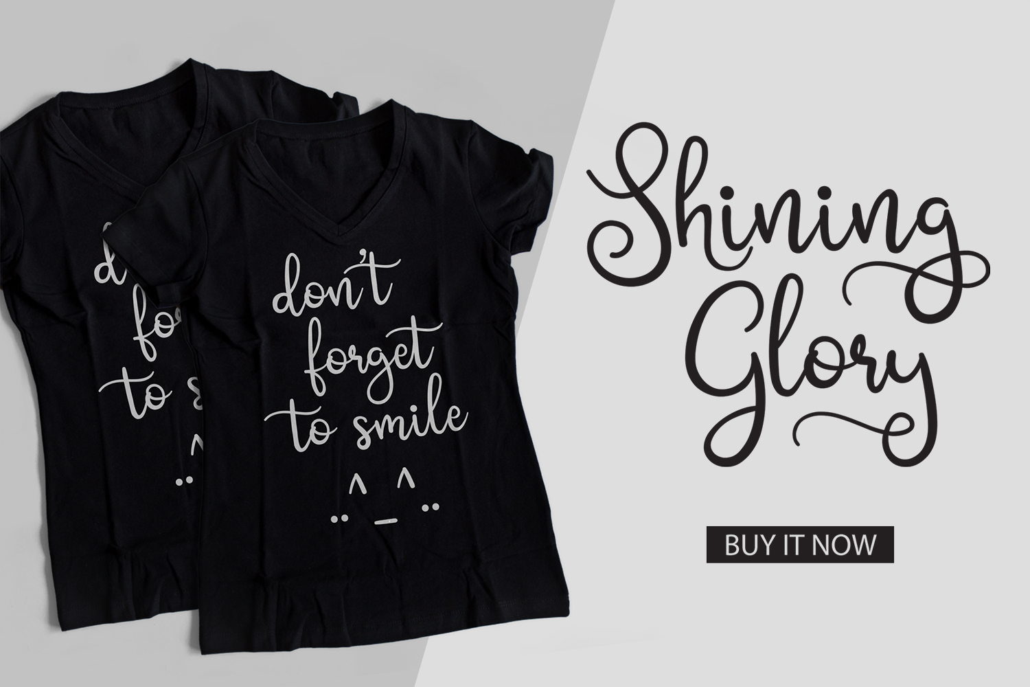 Shining Glory Script Font example image 9