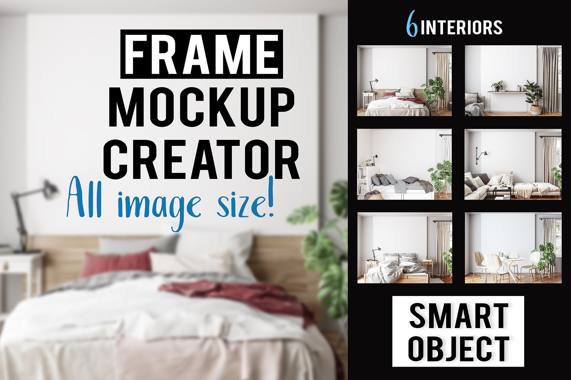 Interior mockup BUNDLE - frame & wall mockup creator example image 1