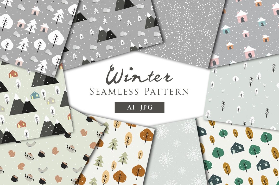Winter - Seamless Patterns example image 1