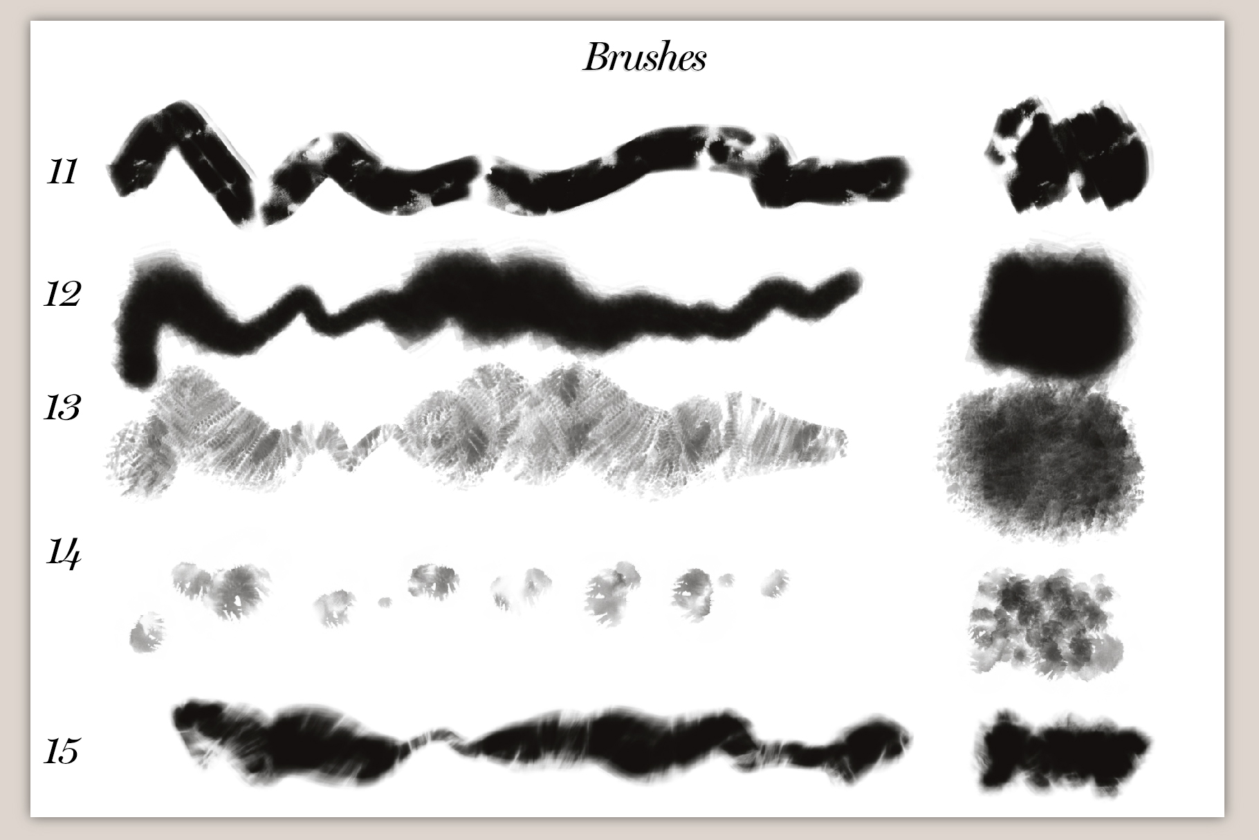 40 Artistic Painting Brushes for Procreate example image 5