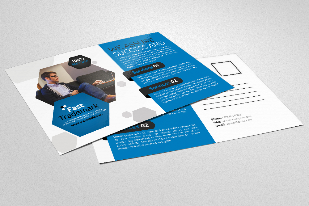 Business Postcards Psd Files example image 3