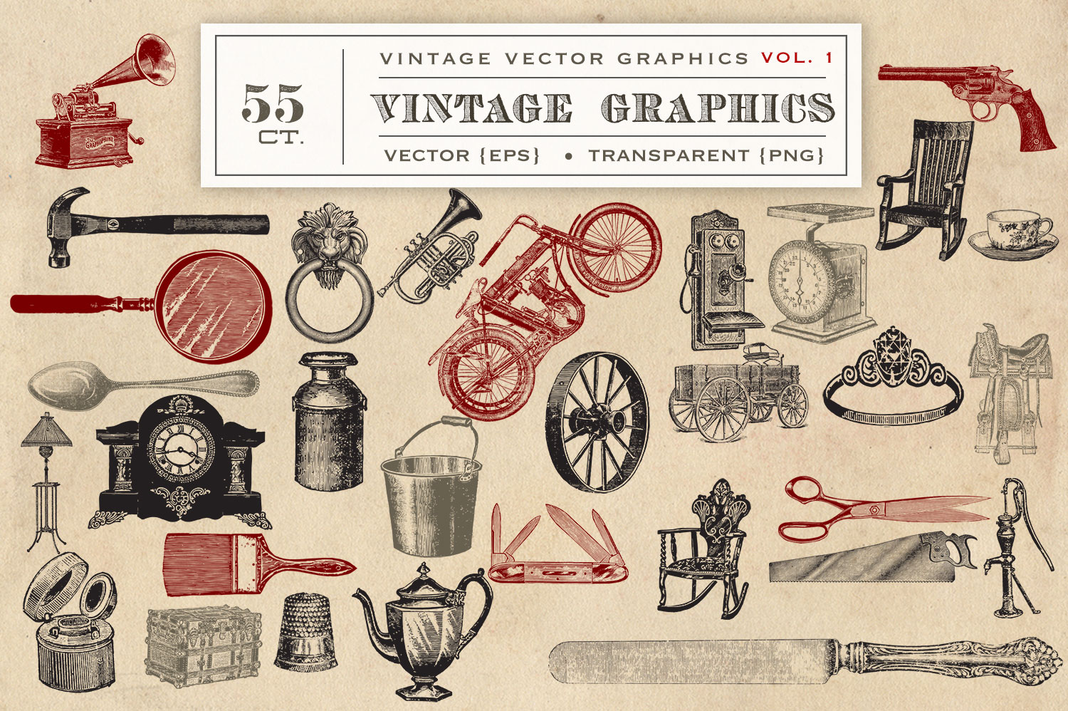 55 Vintage Vector Graphics example image 3