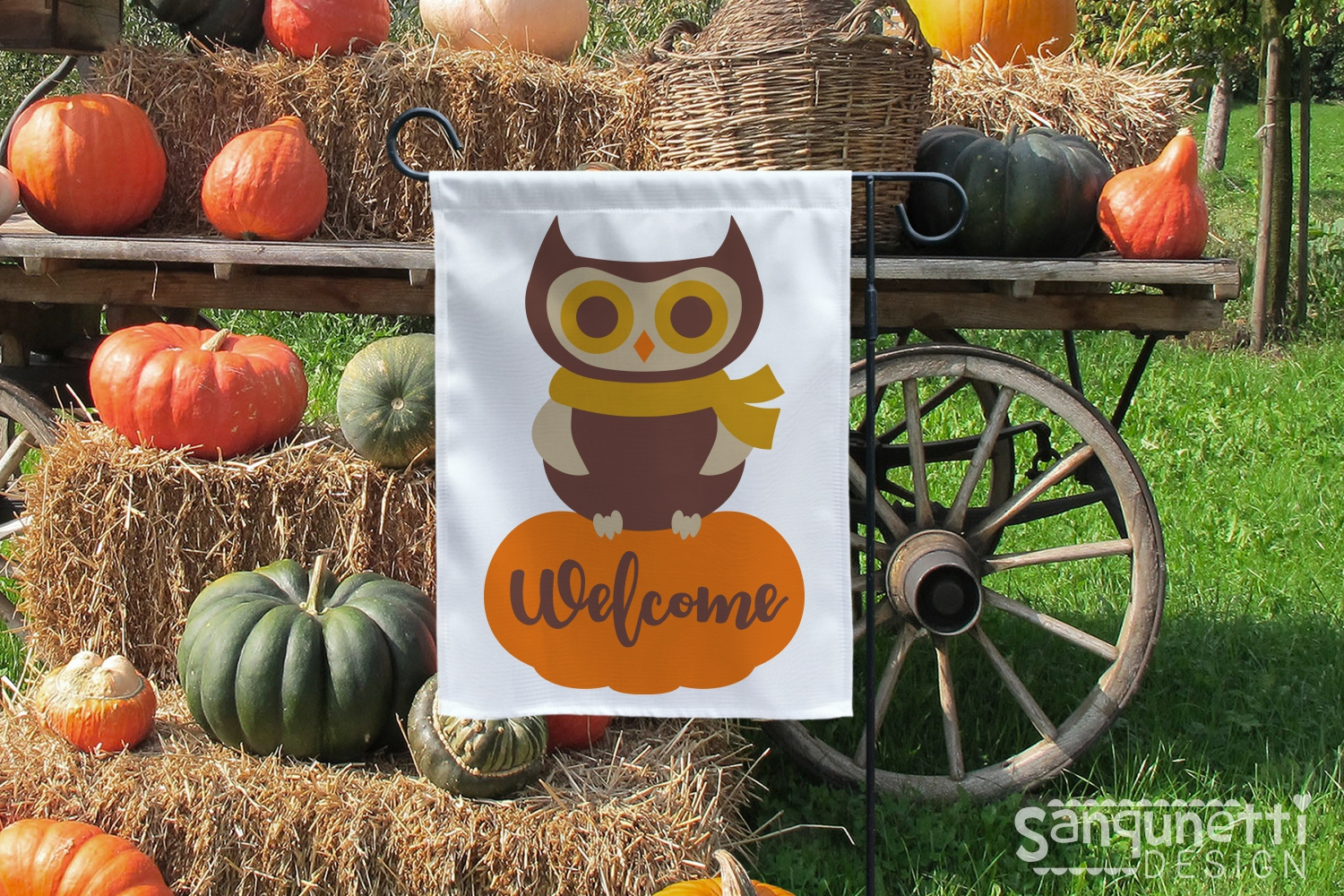 Owl on pumpkin SVG, fall cutting file example image 2