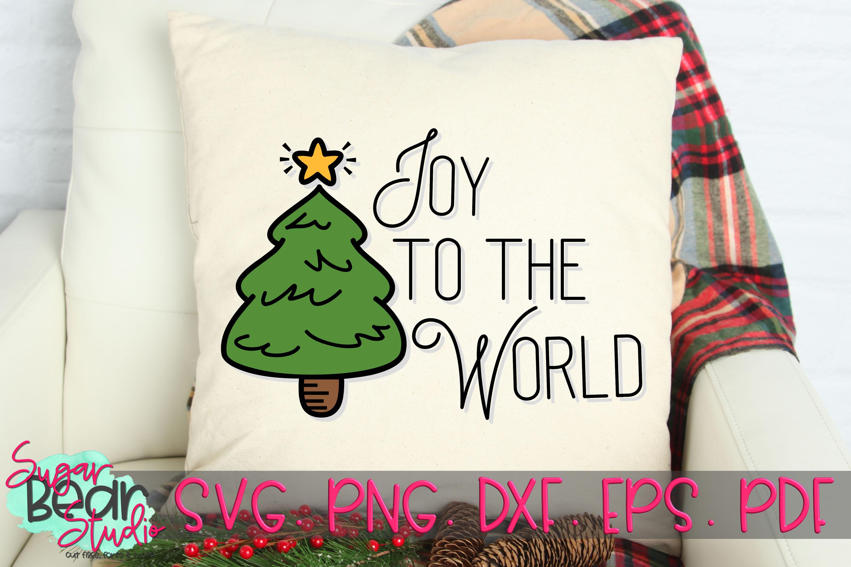 Joy To the World Christmas Tree - A Christmas SVG example image 2