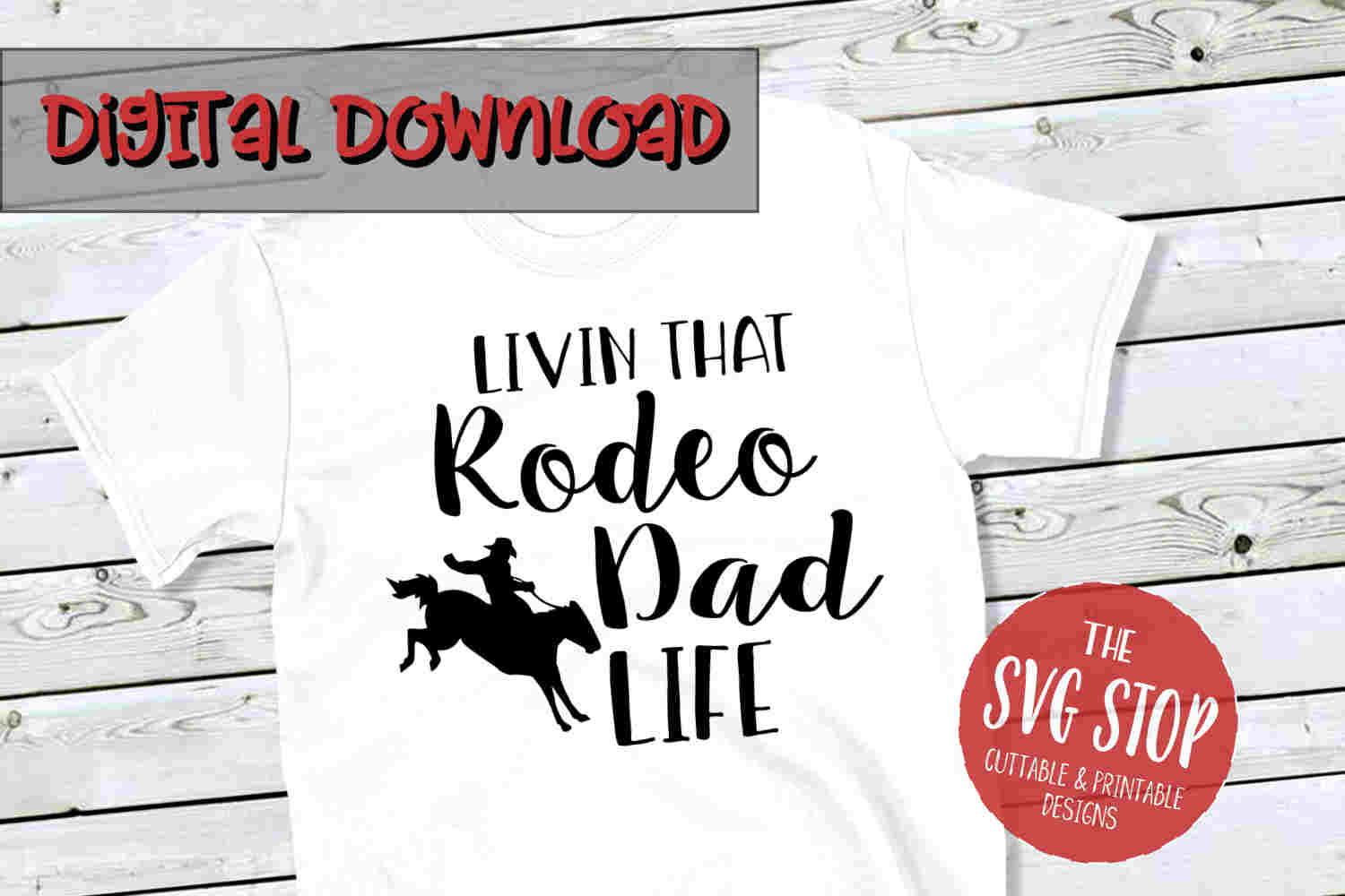 Rodeo Dad -SVG, PNG, DXF example image 1