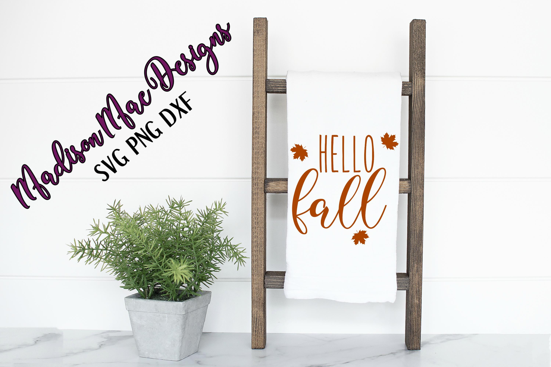 Hello Fall SVG Digital Cut File example image 2