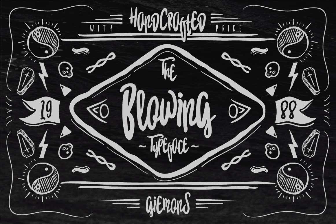 Blowing Typeface example image 1