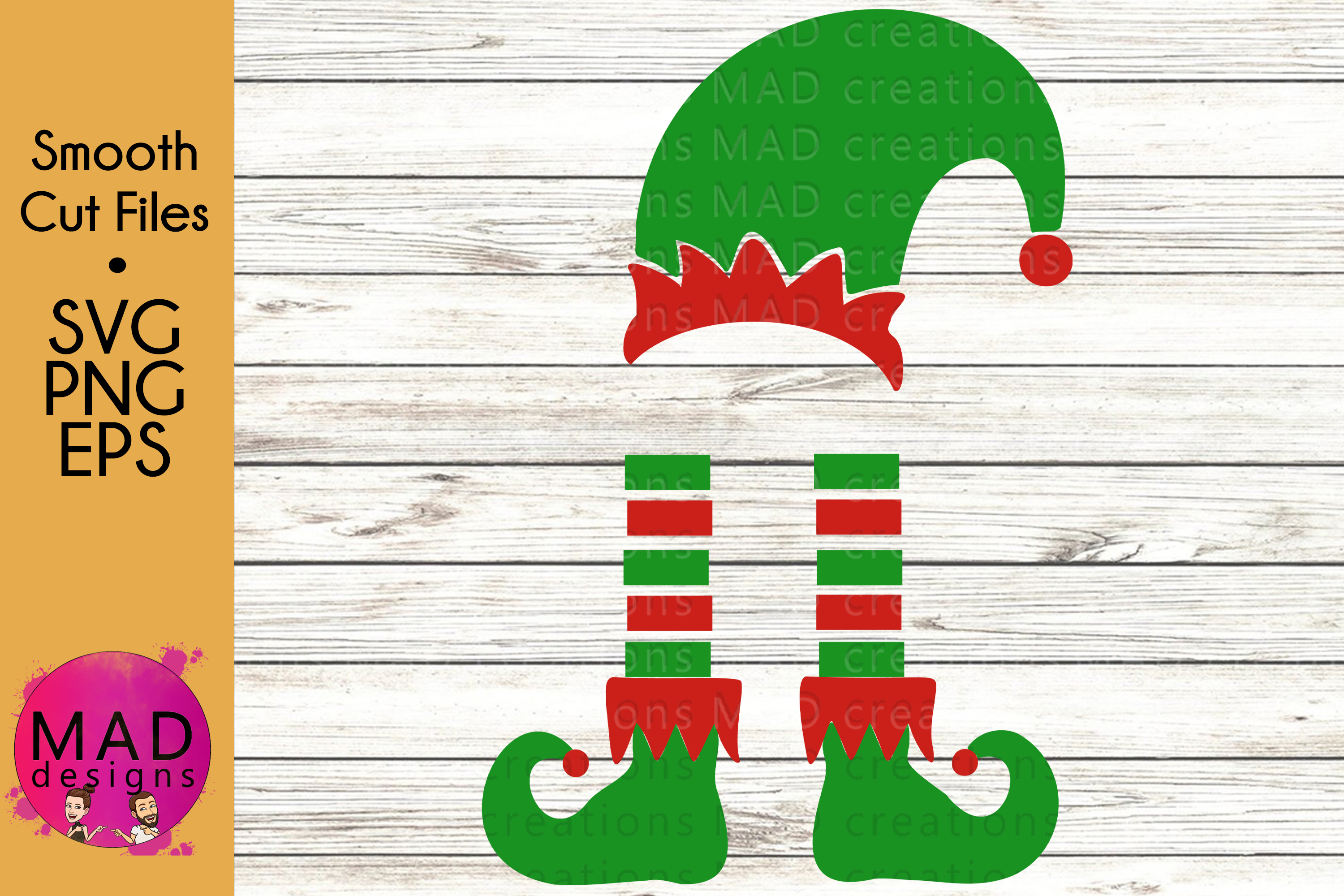Christmas Elf - Bundle - Hat and Shoes Socks - SVG EPS PNG example image 4