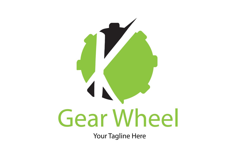 K letter gear logo example image 1