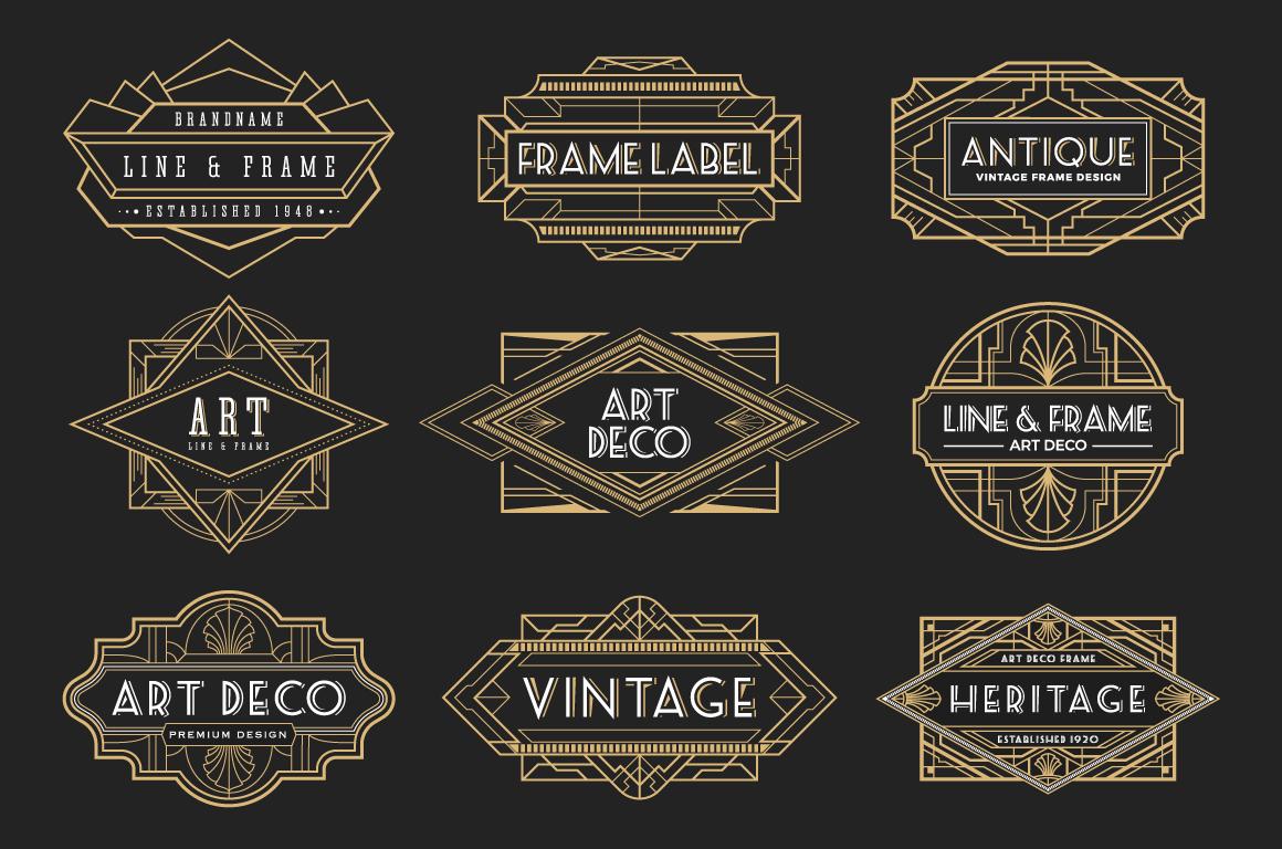 30 Line Art Badge & Frame Label example image 3