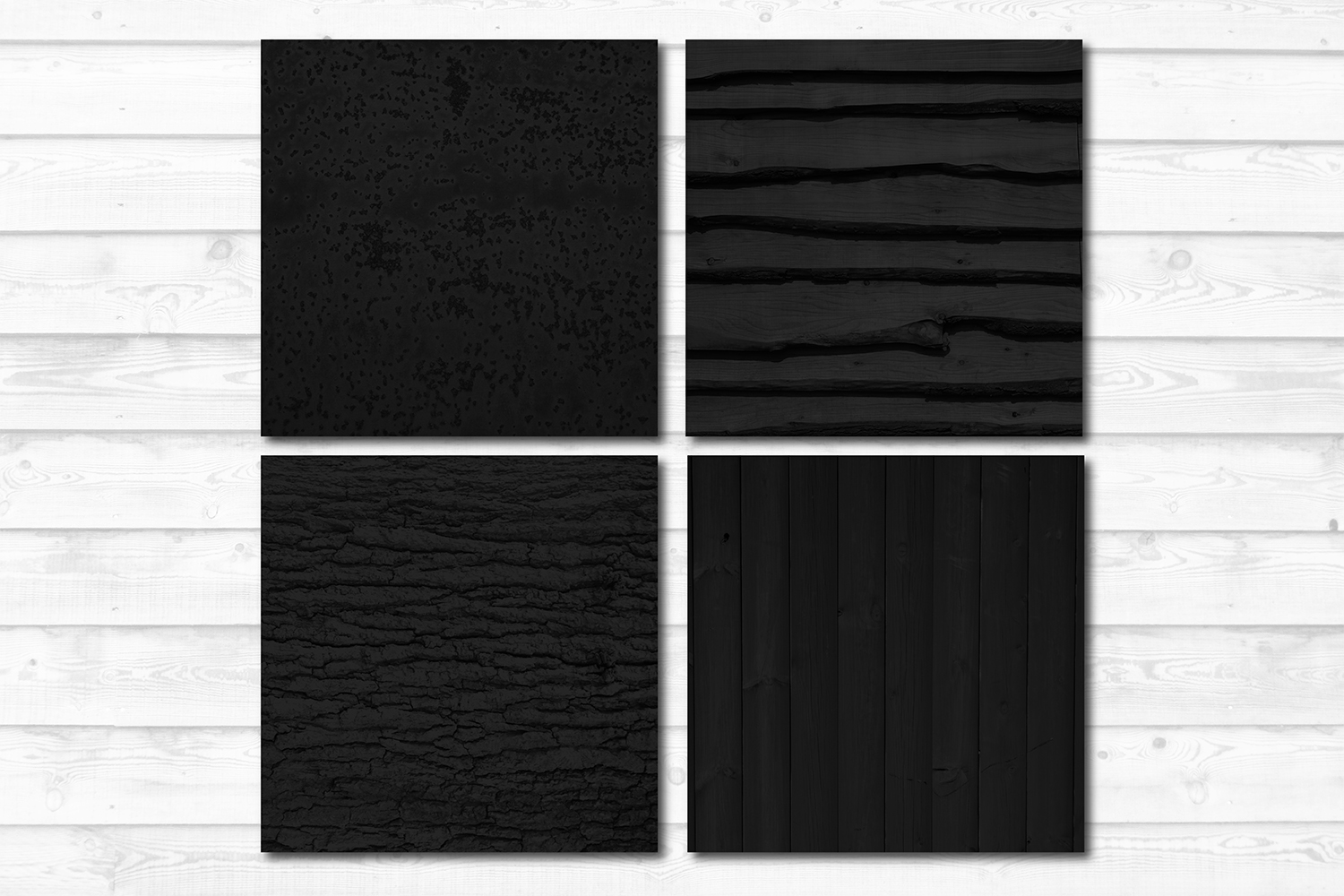 16 Black Photo Texture Background Digital Papers Bundle example image 4