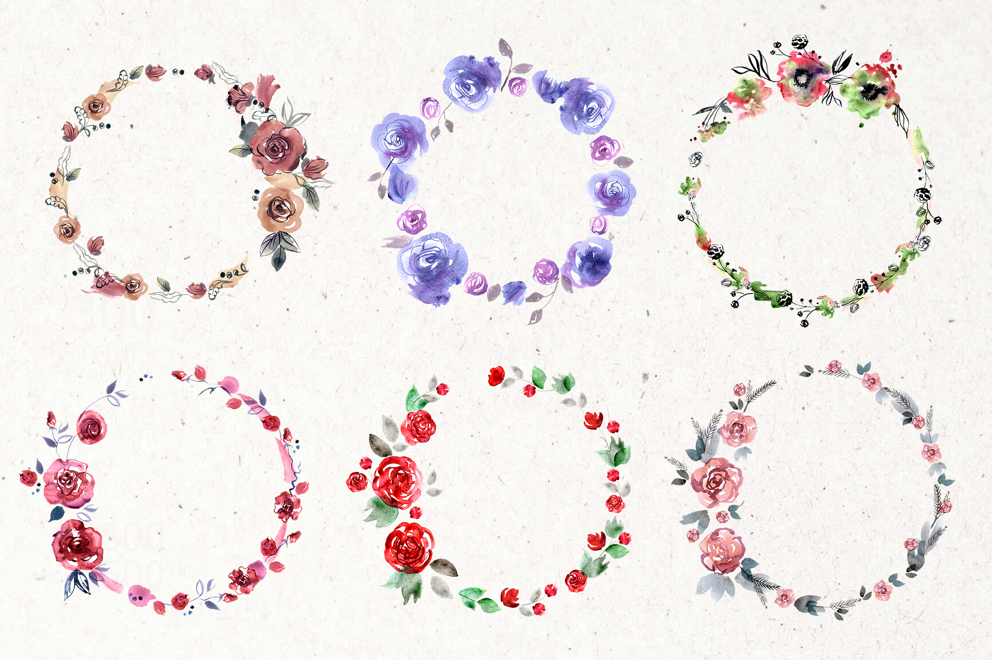 30 Watercolor Floral Wreaths example image 5