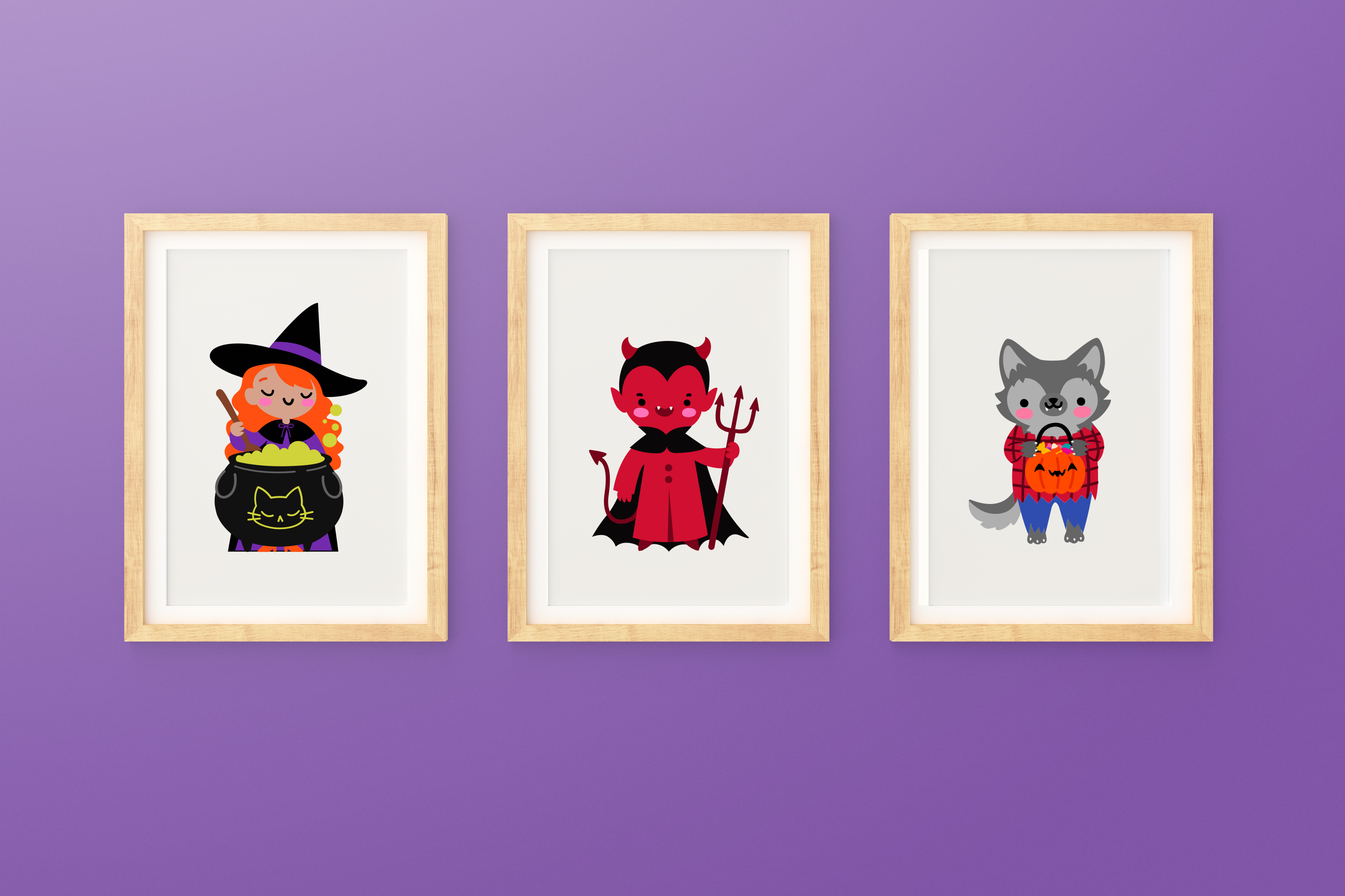 Halloween Monsters Clipart example image 3