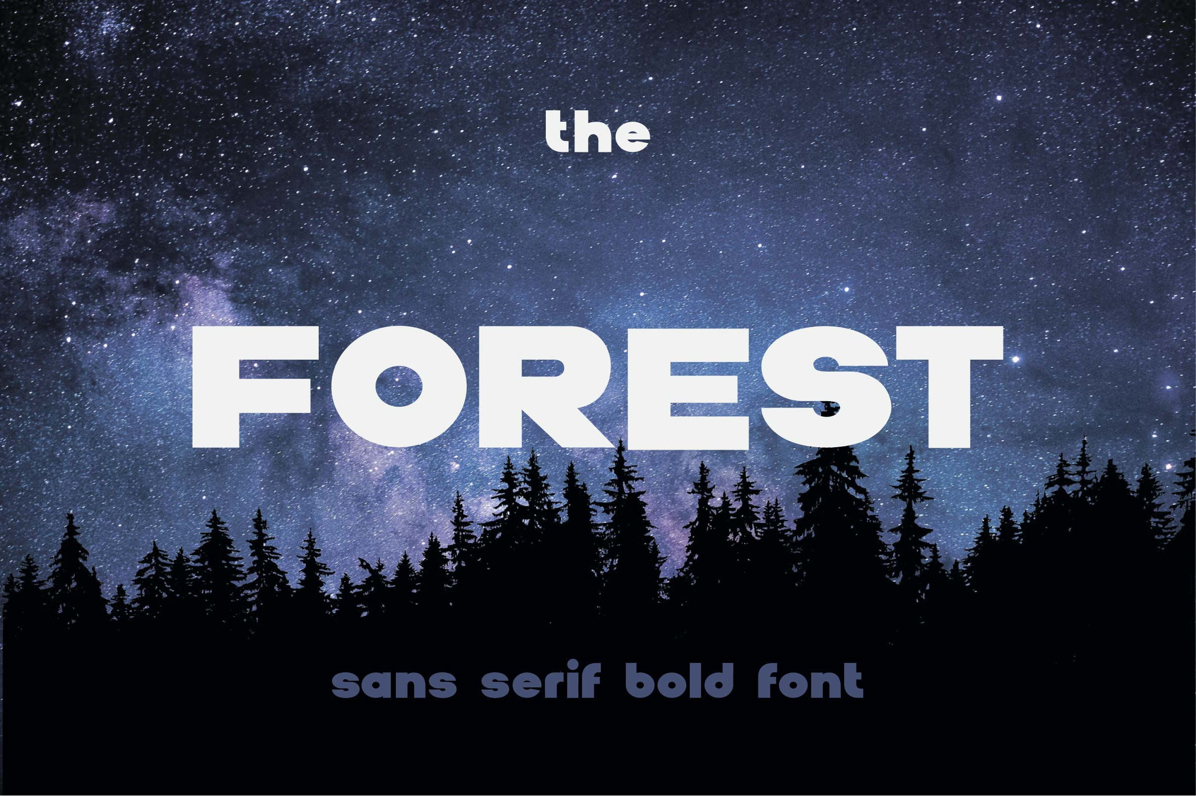 The Forest. Sans serif bold otf font example image 1