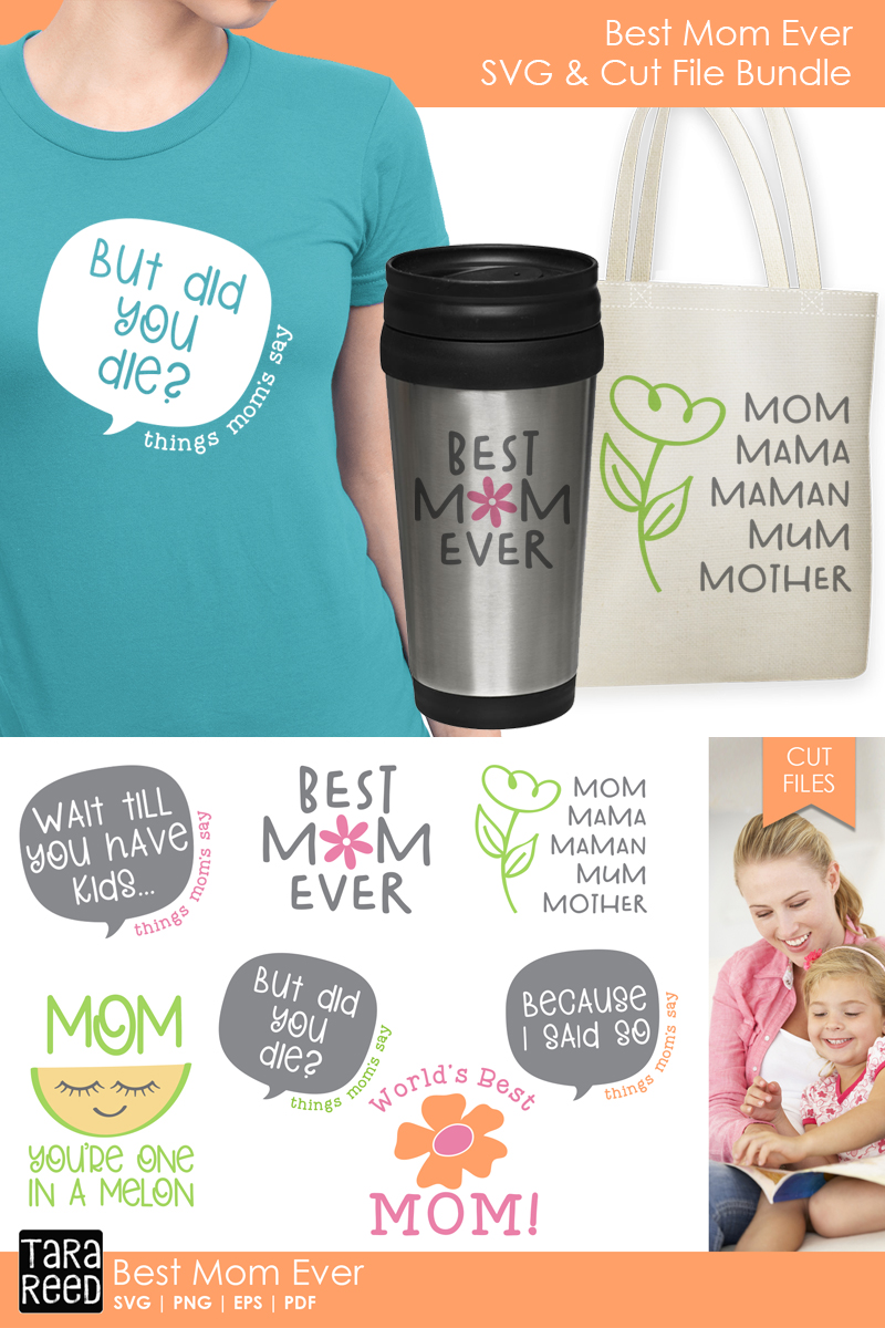 Best Mom Ever - Family SVG and Cut Files for Crafters example image 3