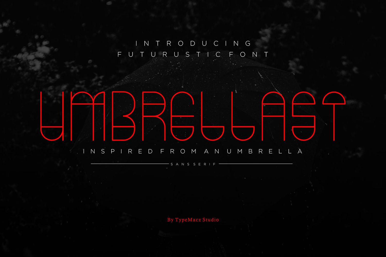 Umbrellast - Sans Serif Font example image 1