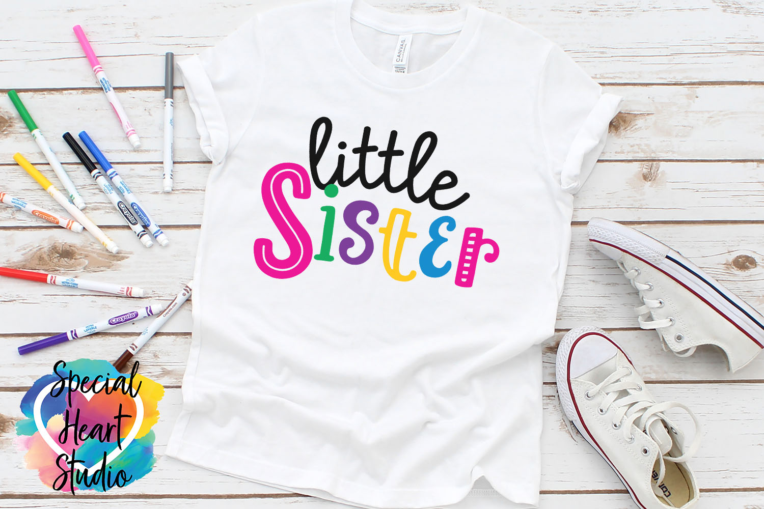 Little Sister - A family and sibling SVG example image 1