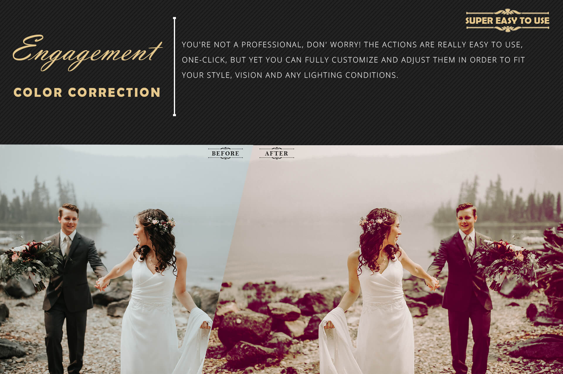 Engagement Color Grading Photoshop actions Filter example image 5