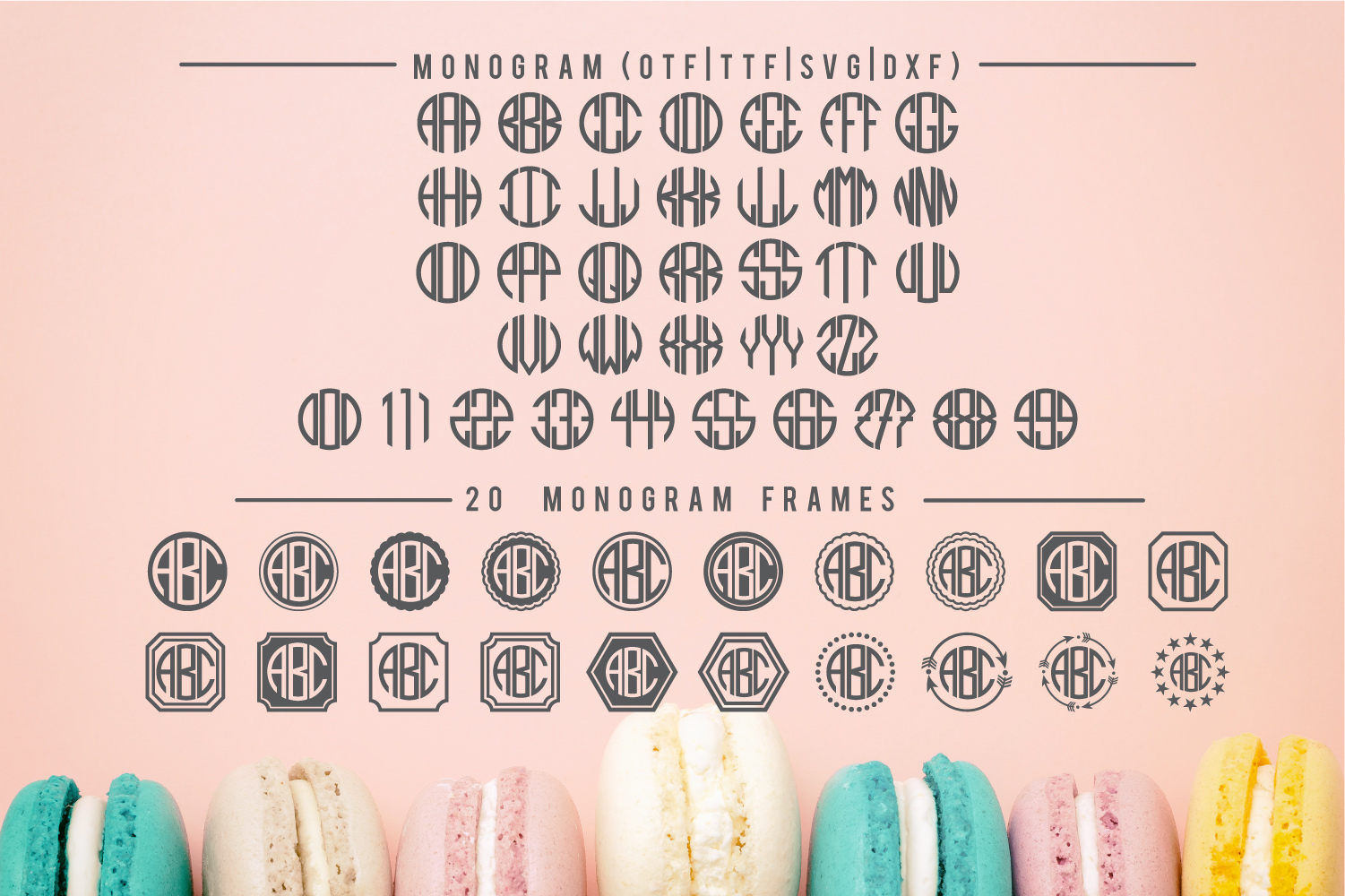 BIG Monogram Font Bundle | The Ultimate Bundle! example image 4