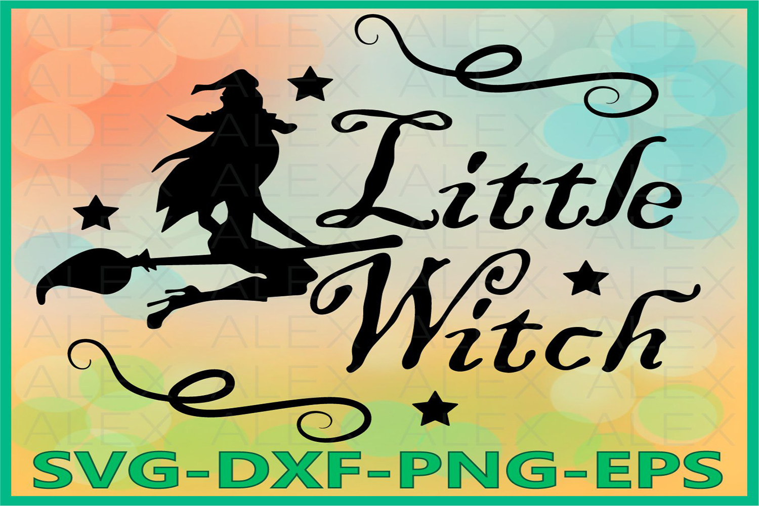 Little Witch Svg, Halloween Witches, Witch png example image 1
