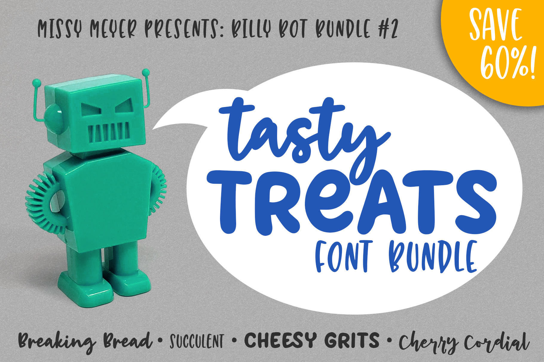 Billy Bot Bundle 2 - Tasty Treats Font Bundle! example image 1