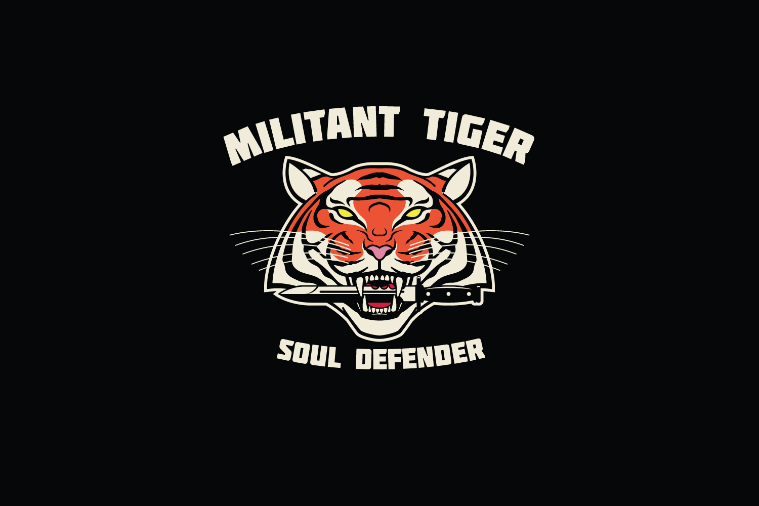 Militant Tiger Logo Template example image 4