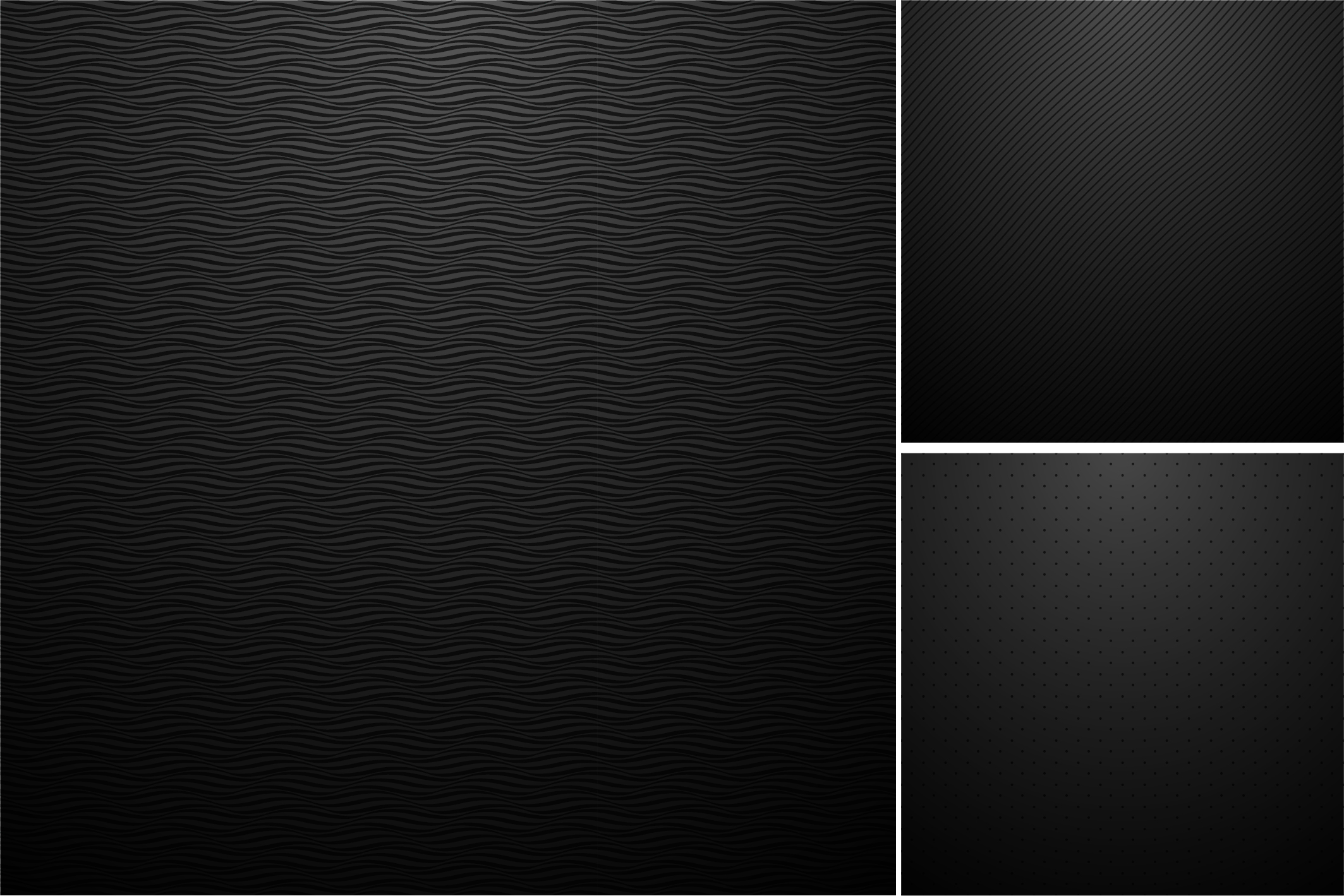 Black backgrounds. Striped textures. example image 5