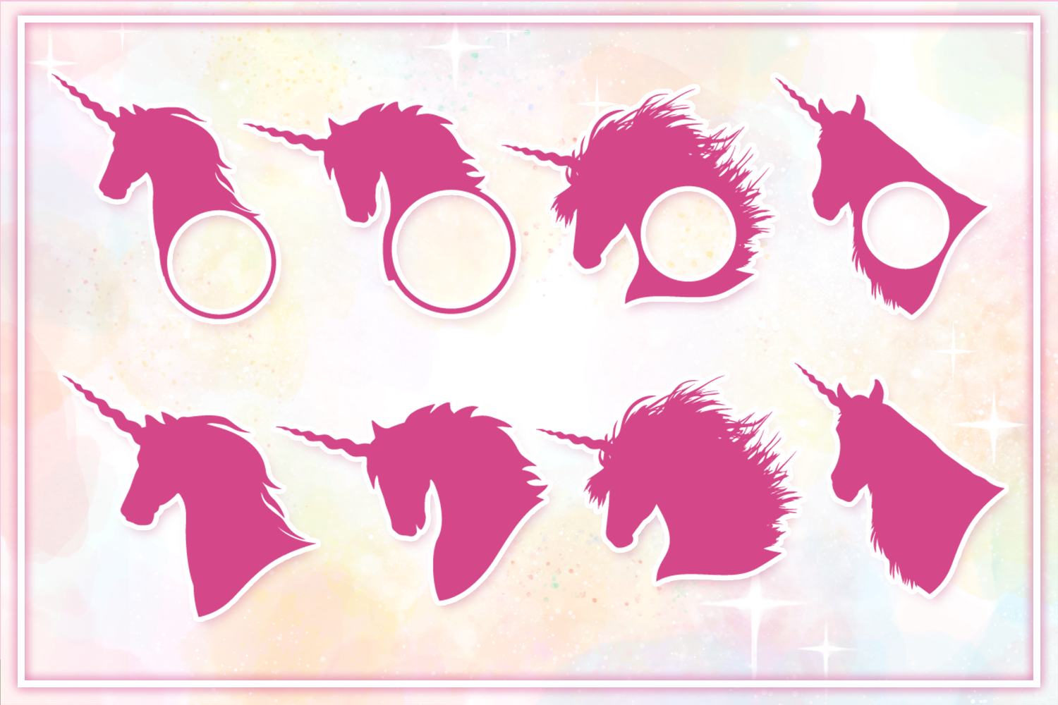 Unicorn SVG Bundle - The Complete Craft Collection example image 13