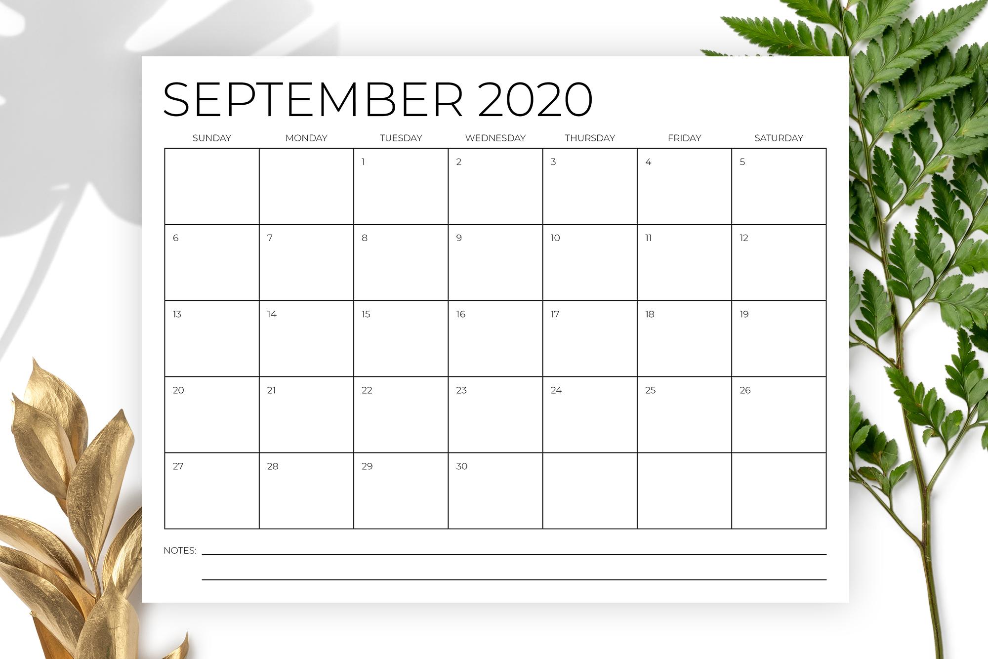 8.5 x 11 Inch Minimal 2020 Calendar example image 5