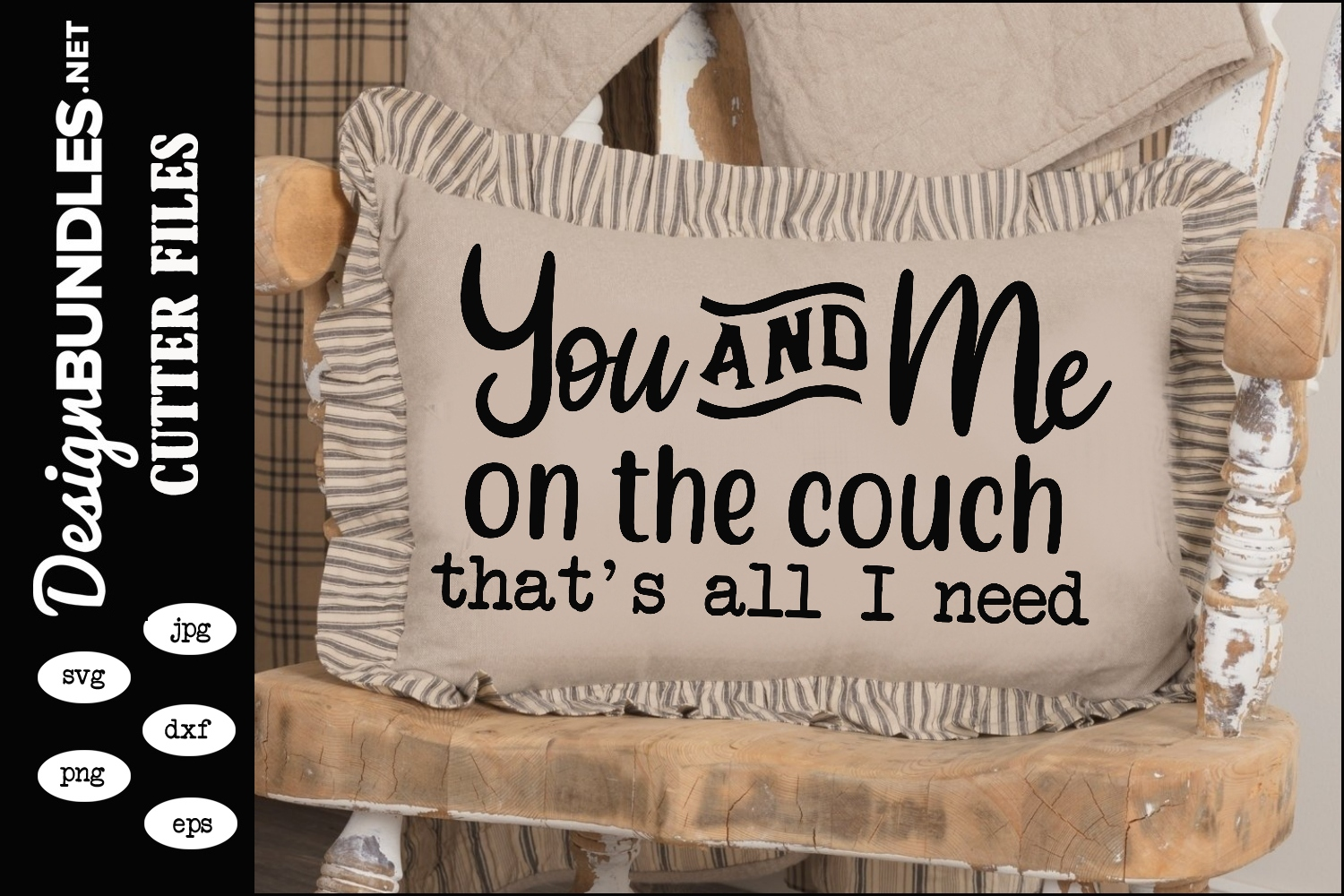 You and Me On The Couch SVG example image 1