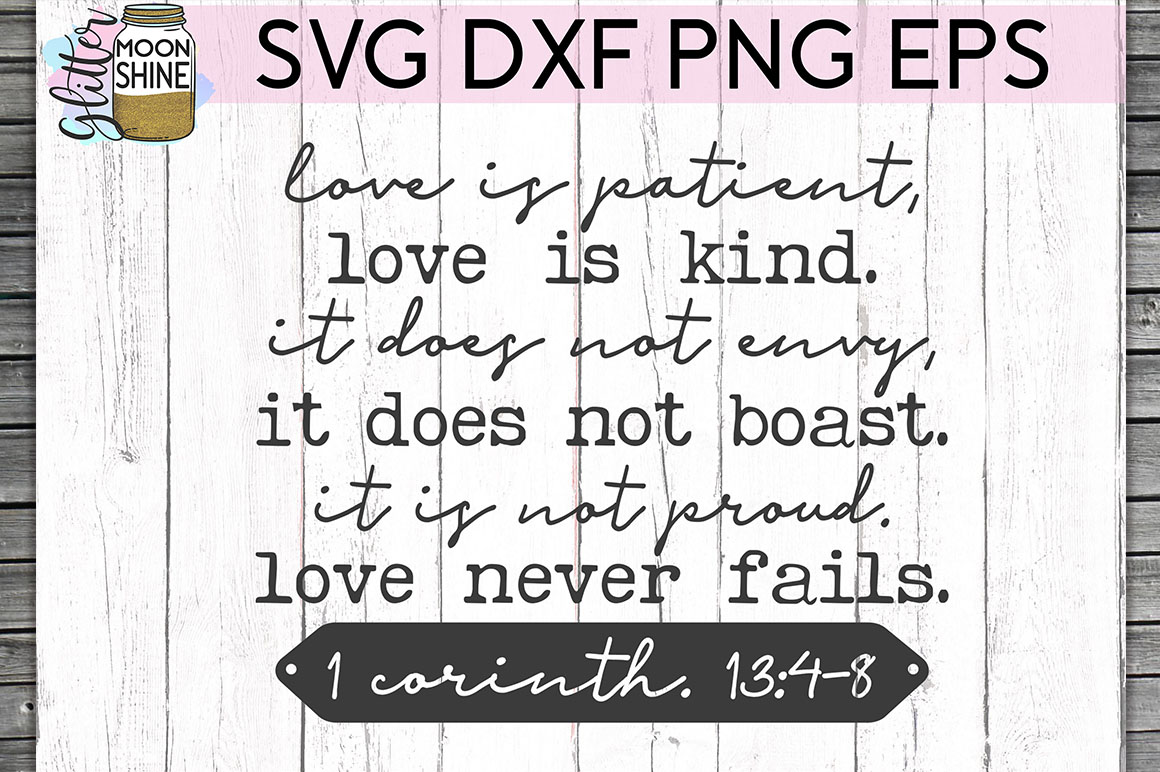 Love Is Patient SVG DXF PNG EPS Cutting Files example image 1