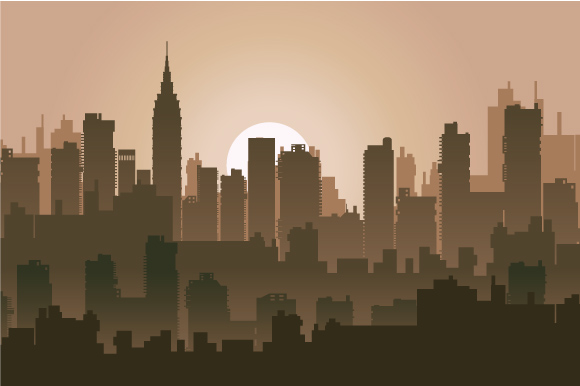 Set of city landscapes backgrounds  example image 3