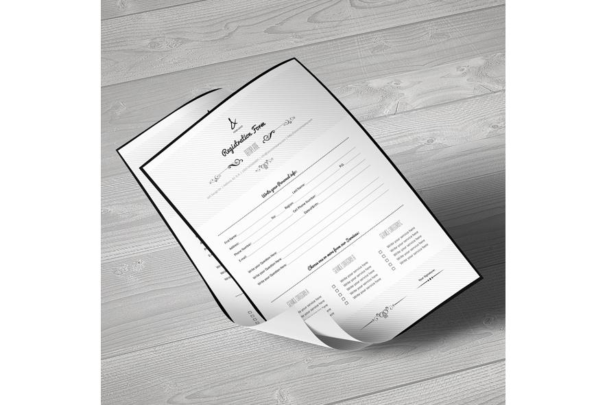 Registration Form Template v7 example image 2