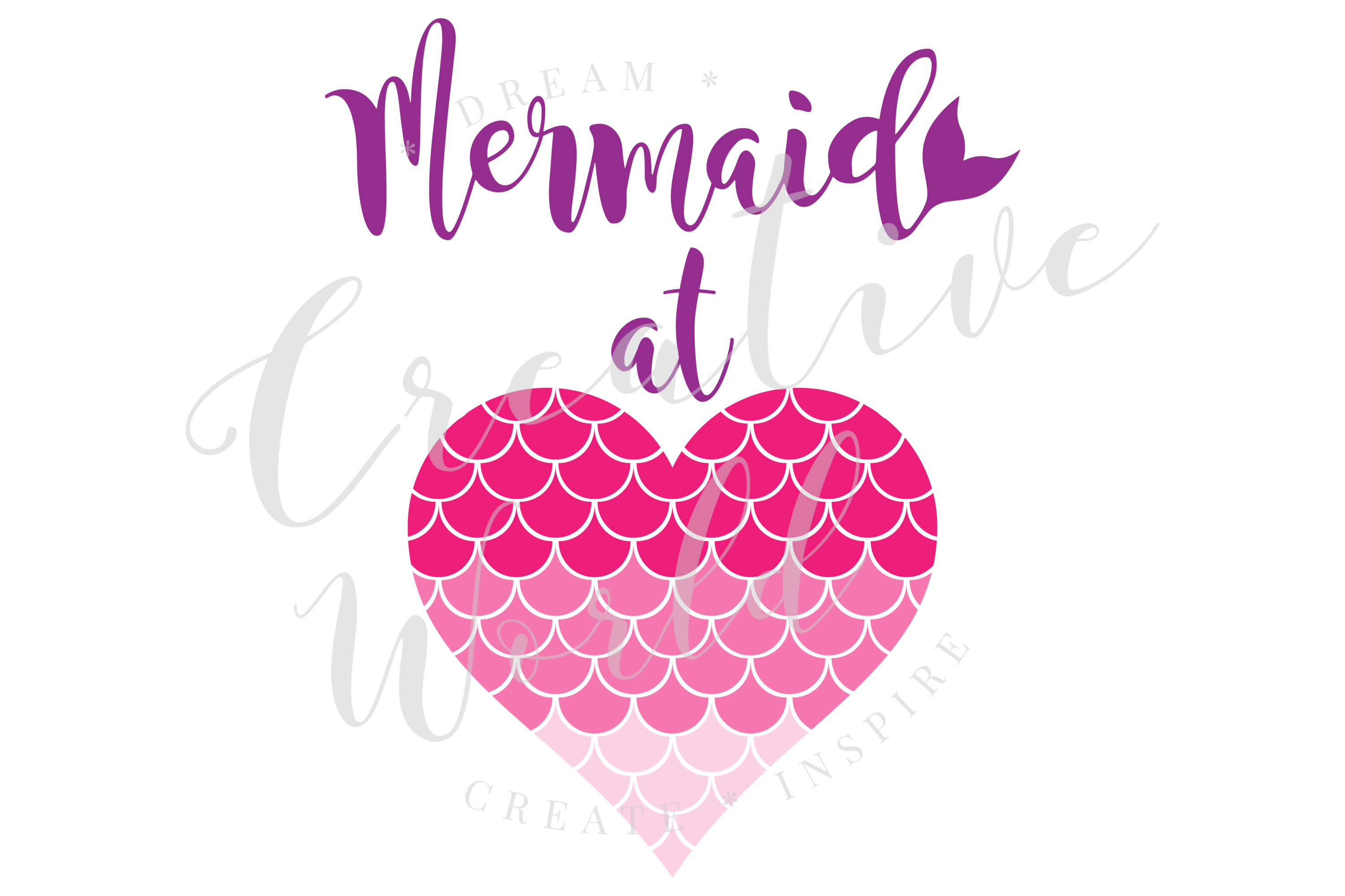 Mermaid at Heart SVG | Mermaid at Heart | Mermaid svg example image 1
